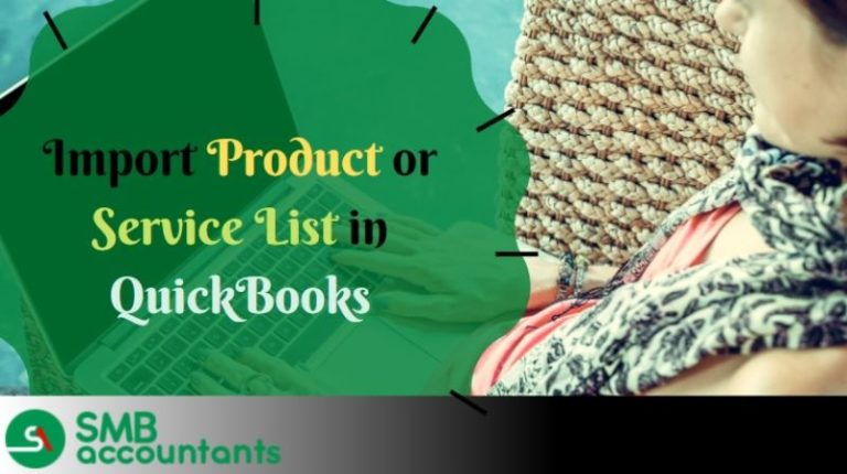 Import Product or Service List in QuickBooks 1